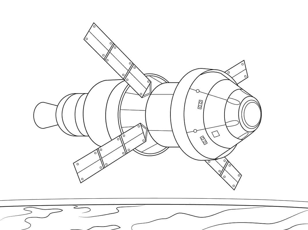 Раскраска Космический корабль 10