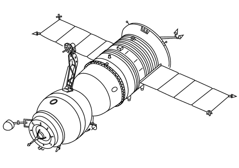 Раскраска Космический корабль 12