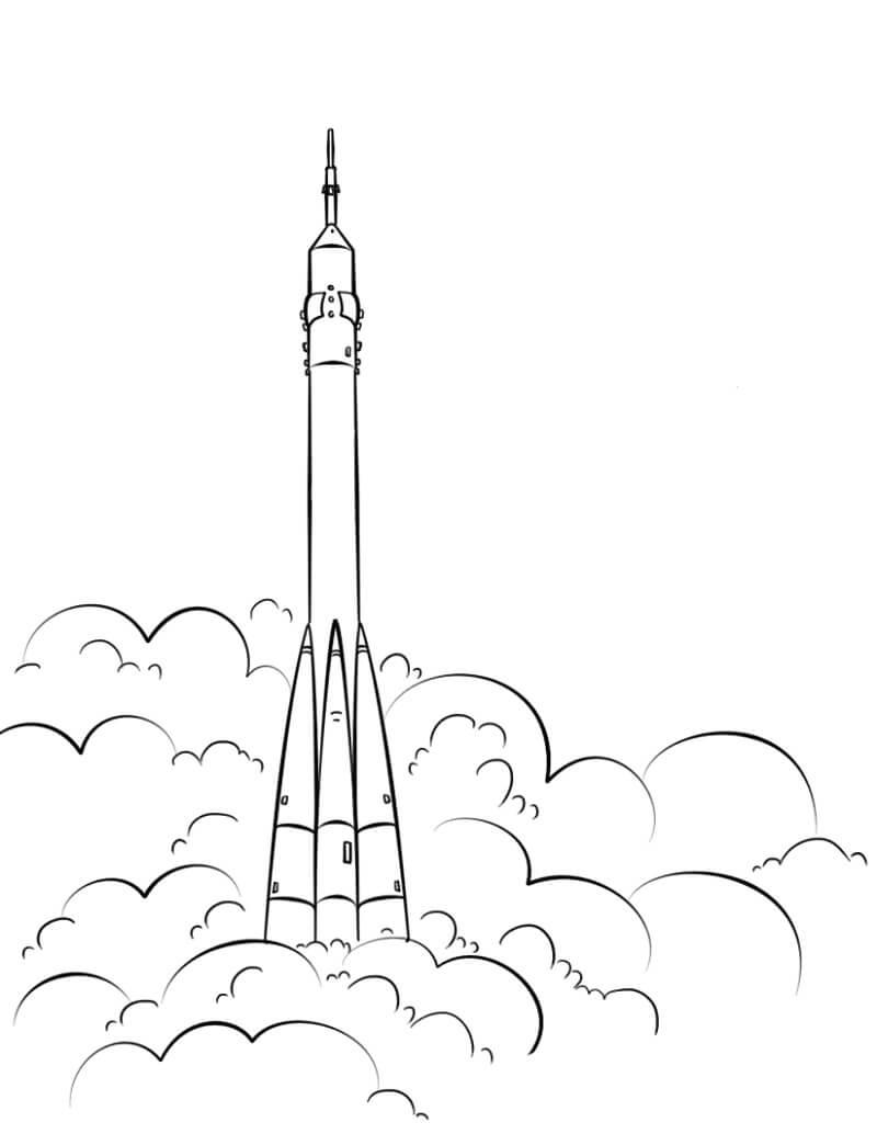 Раскраска Космический корабль 15