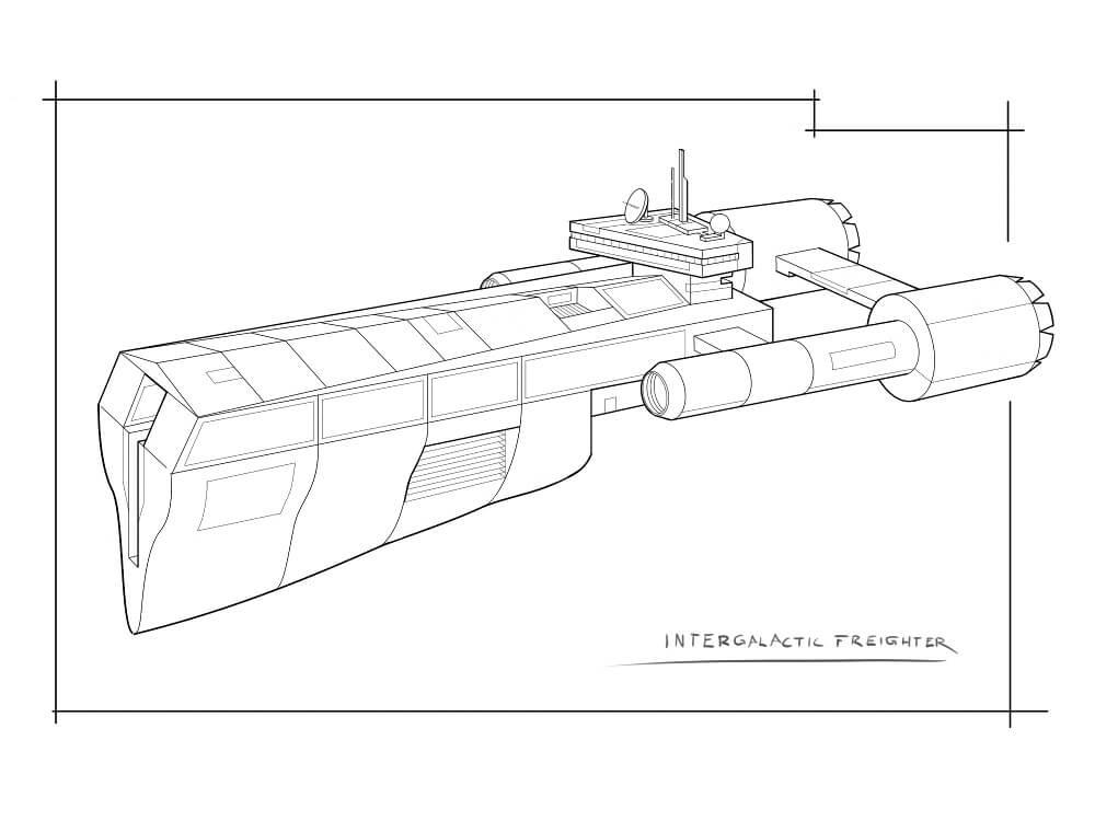Раскраска Космический корабль 18
