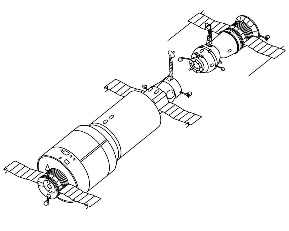 Раскраска Космический корабль 19