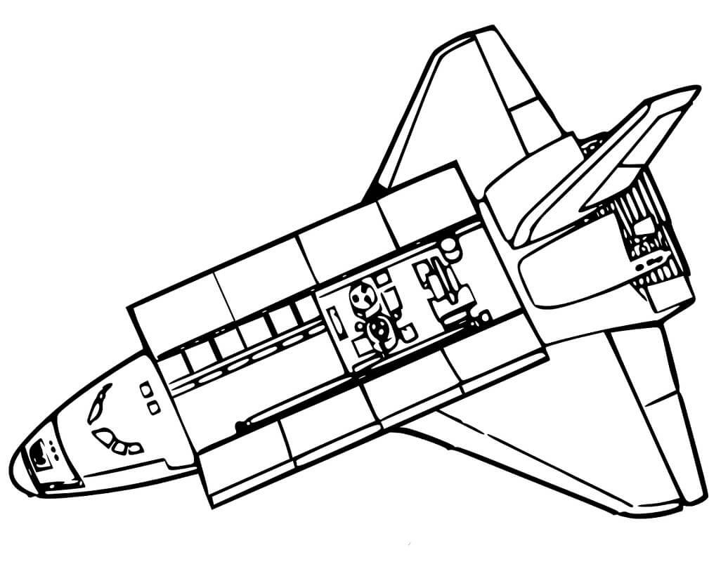 Раскраска Космический корабль 2