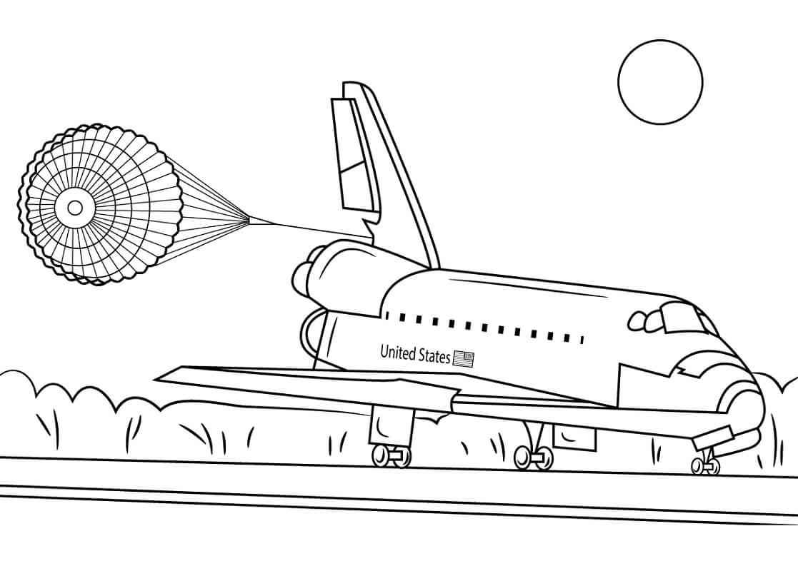 Раскраска Космический корабль 4