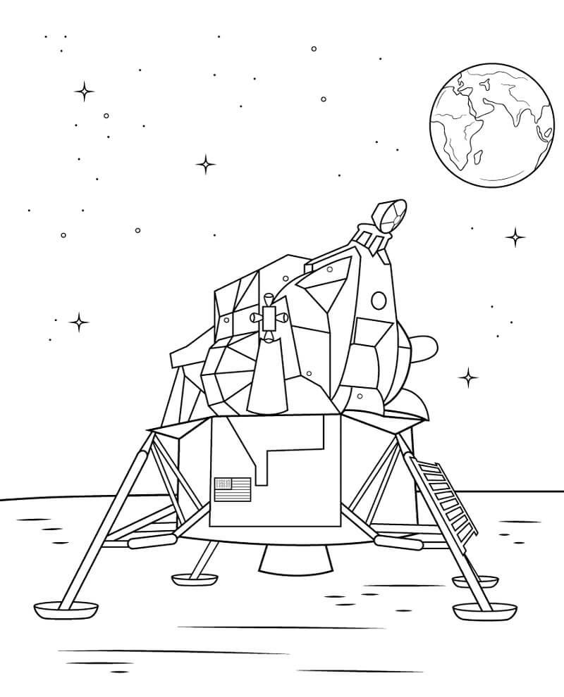 Раскраска Космический корабль 5