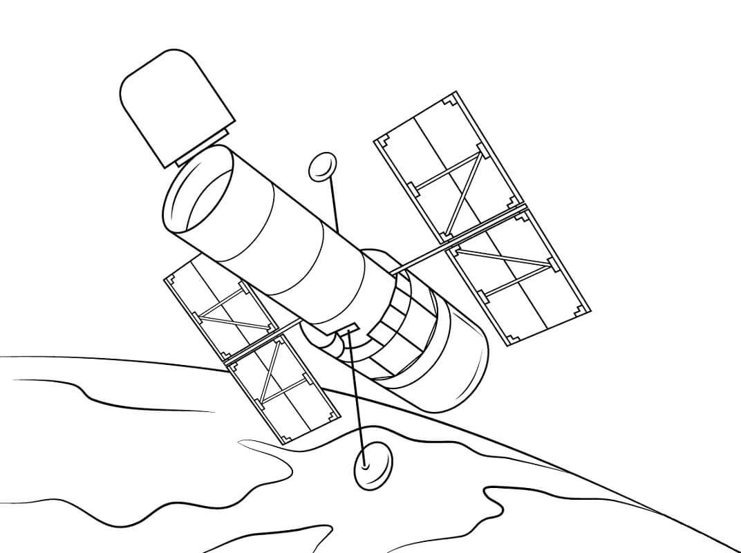 Раскраска Космический корабль 6