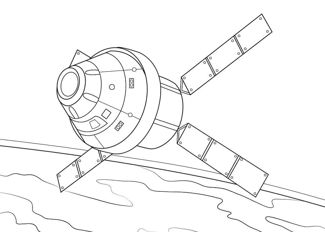 Раскраска Космический корабль 9