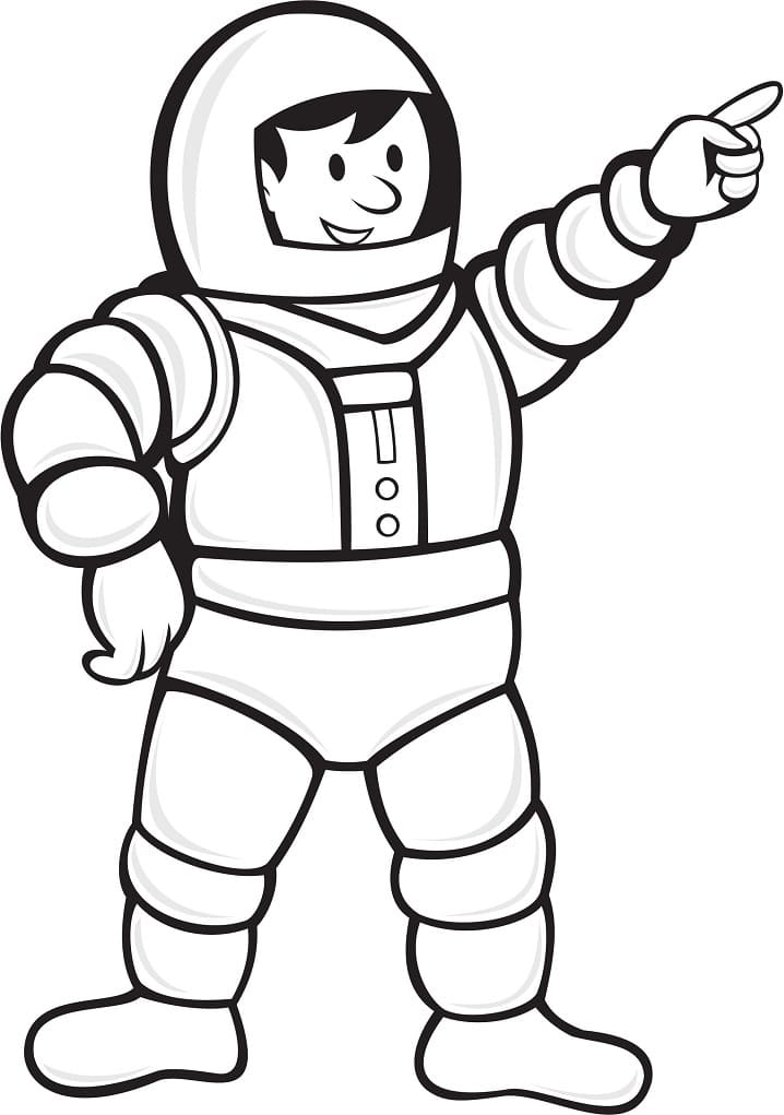 Раскраска Космонавт в скафандре