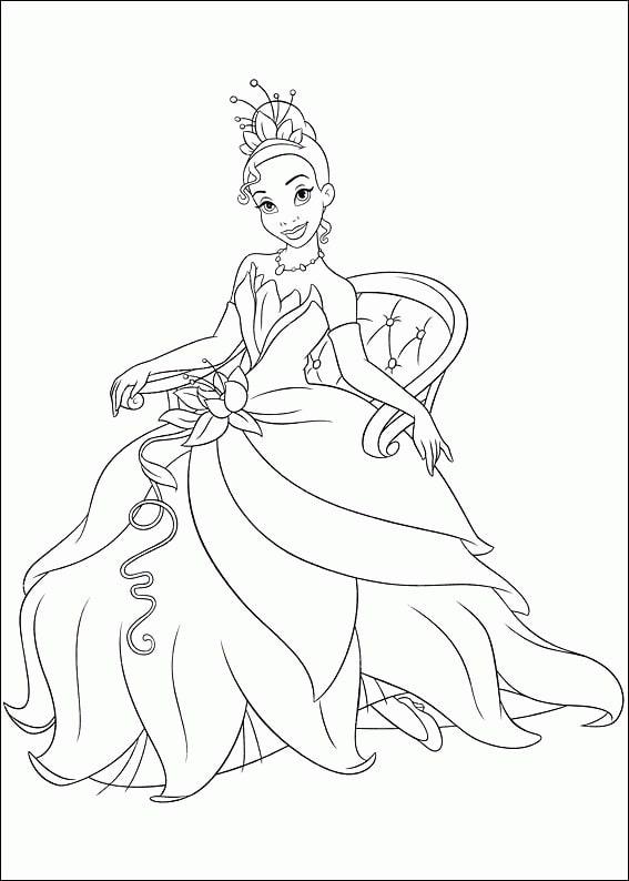 Раскраски принцесса тиана