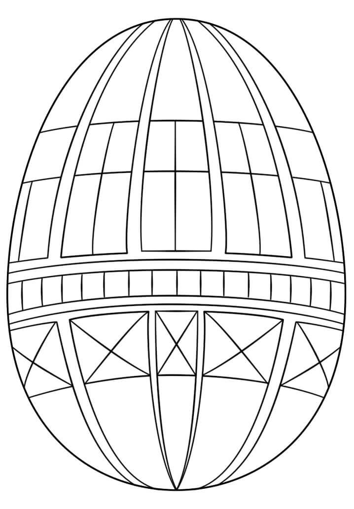 Раскраска красивое пасхальное яйцо 1