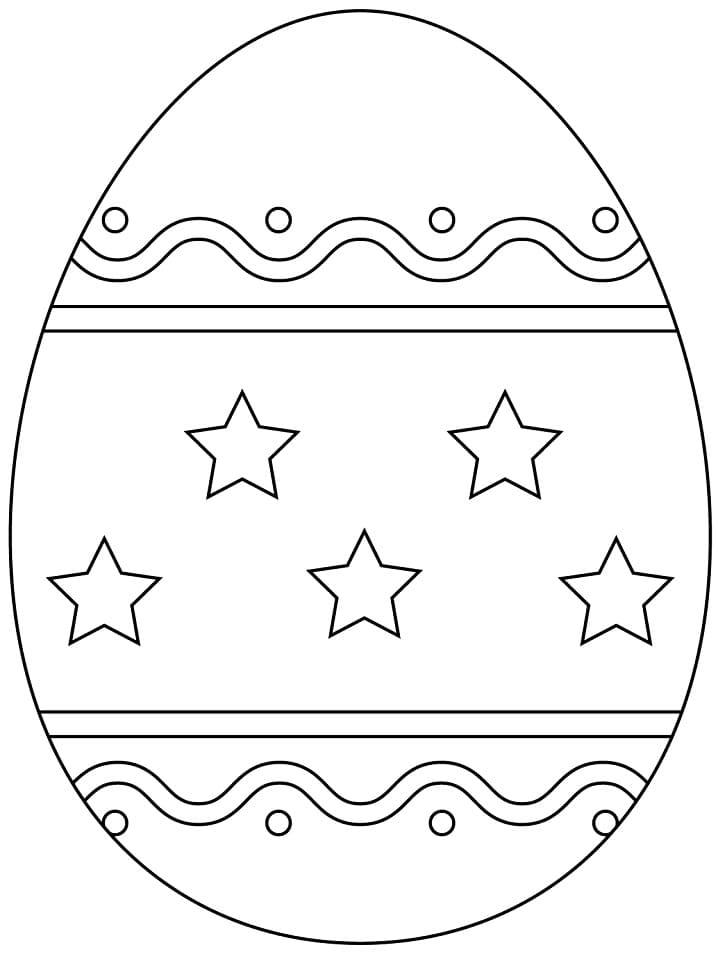 Раскраска красивое пасхальное яйцо 4