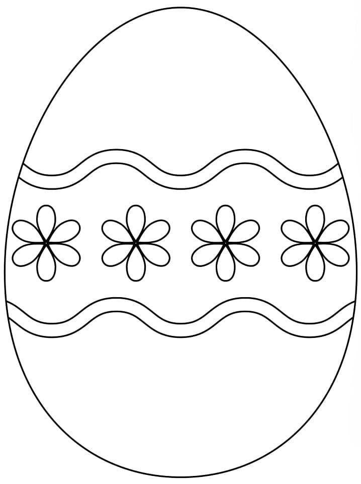 Раскраска красивое пасхальное яйцо 5