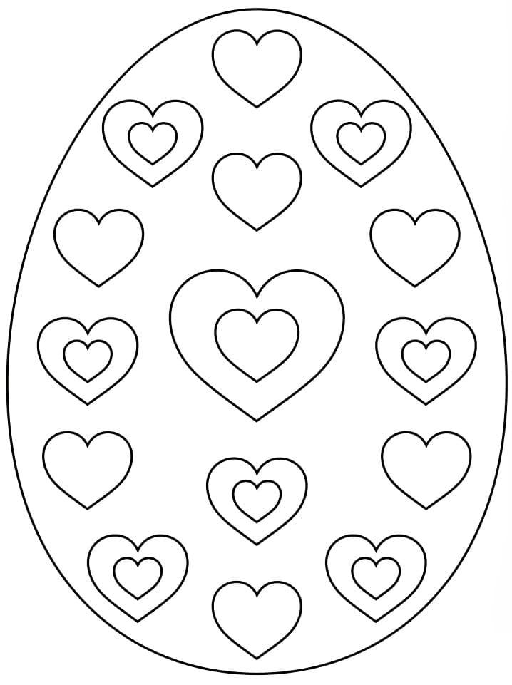 Раскраска красивое пасхальное яйцо 6