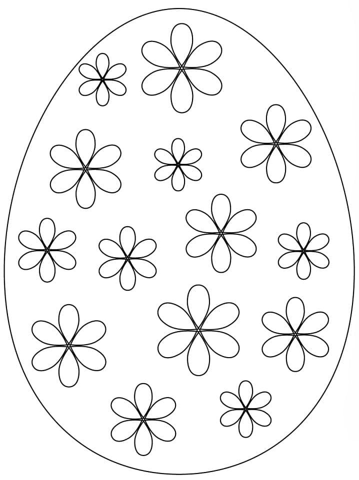 Раскраска красивое пасхальное яйцо 7