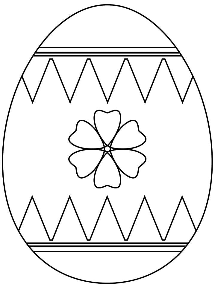 Раскраска красивое пасхальное яйцо 8