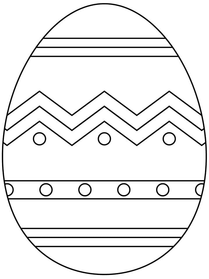 Раскраска красивое пасхальное яйцо 9