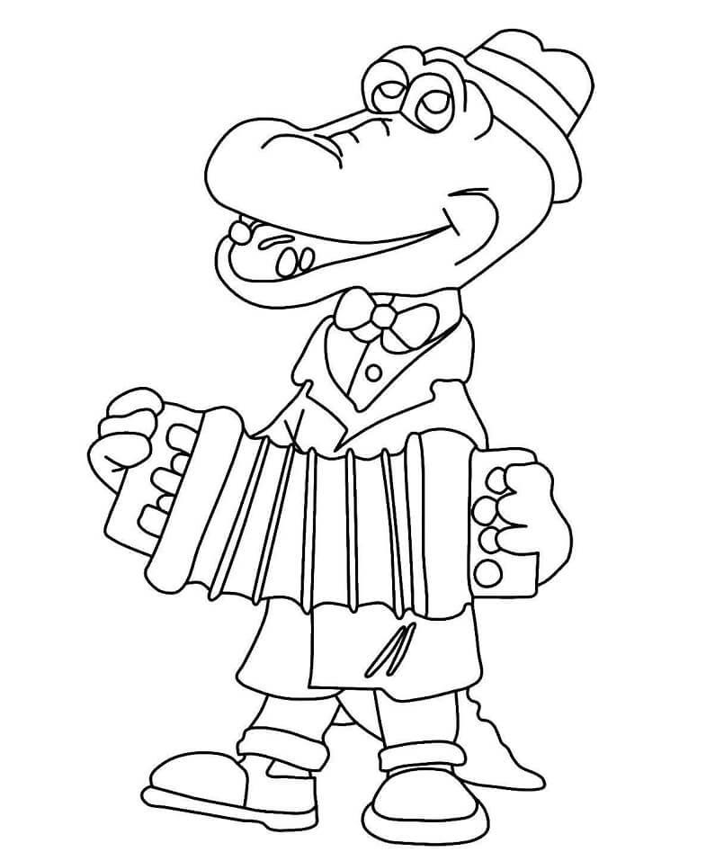 Раскраска Раскраски Крокодил Гена
