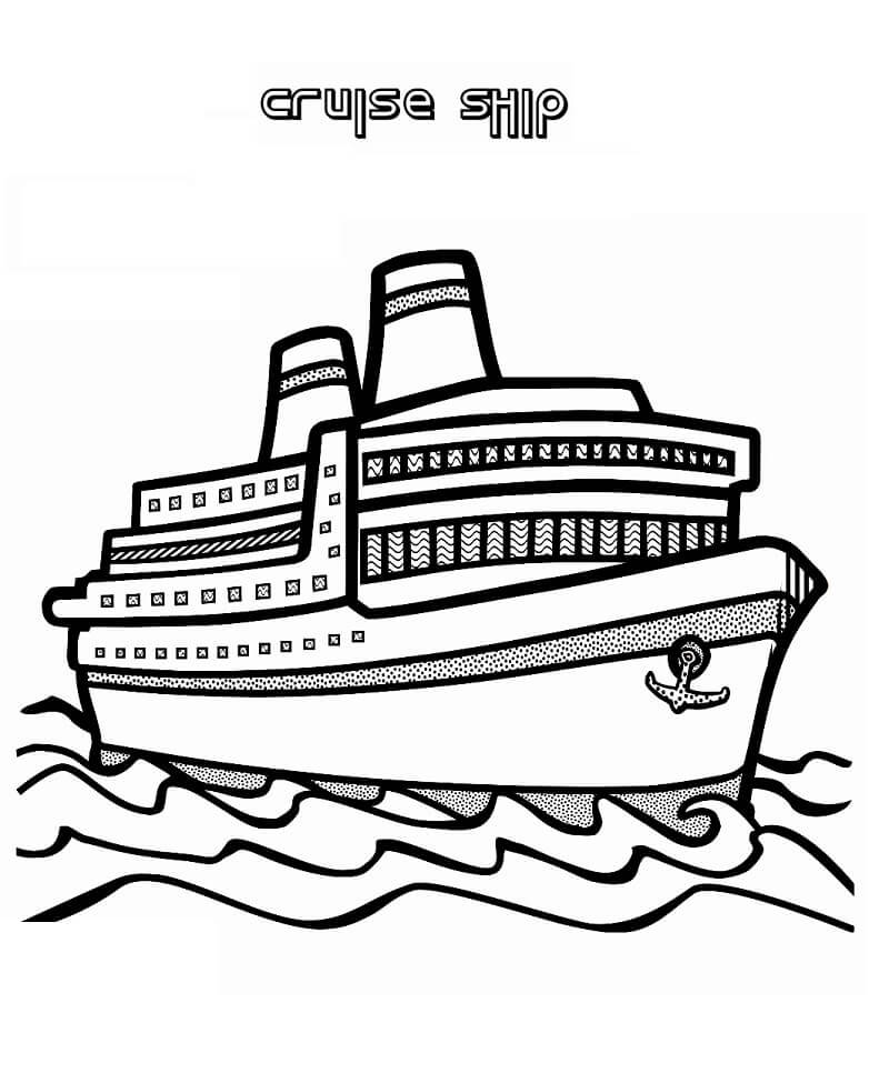 Раскраска круизный лайнер