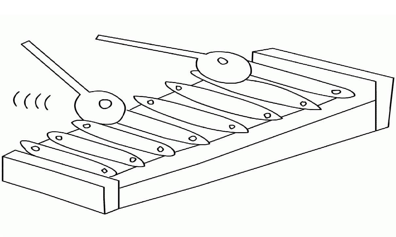 Раскраска ксилофон 1