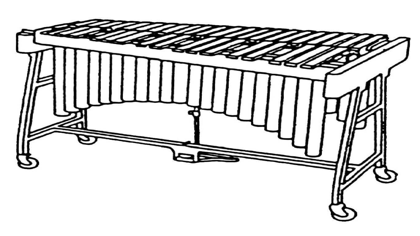 Раскраска ксилофон 2