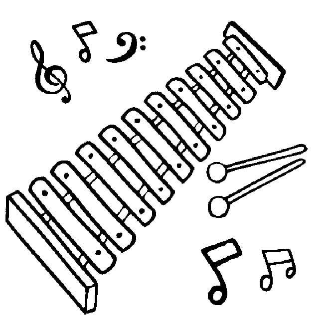 Раскраска ксилофон 5