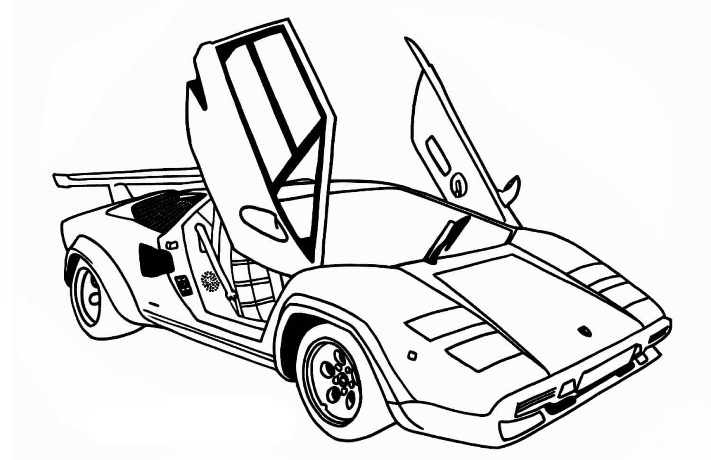 Раскраска Lamborghini Countach