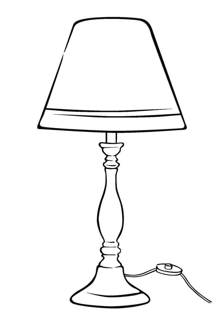 Раскраска Лампа
