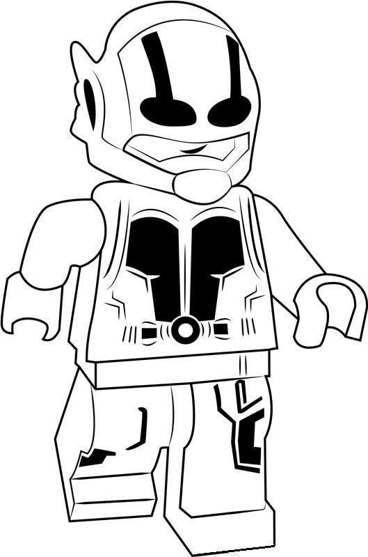 Раскраска Lego Человек-муравей 1