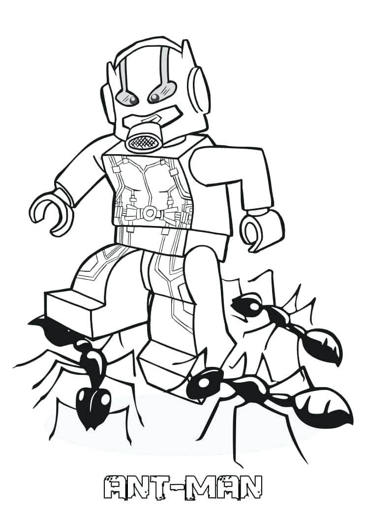 Раскраска Lego Человек-муравей