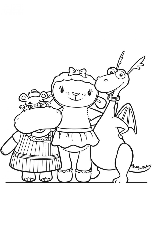 Раскраска Лэмми, Стаффи и Хэлли