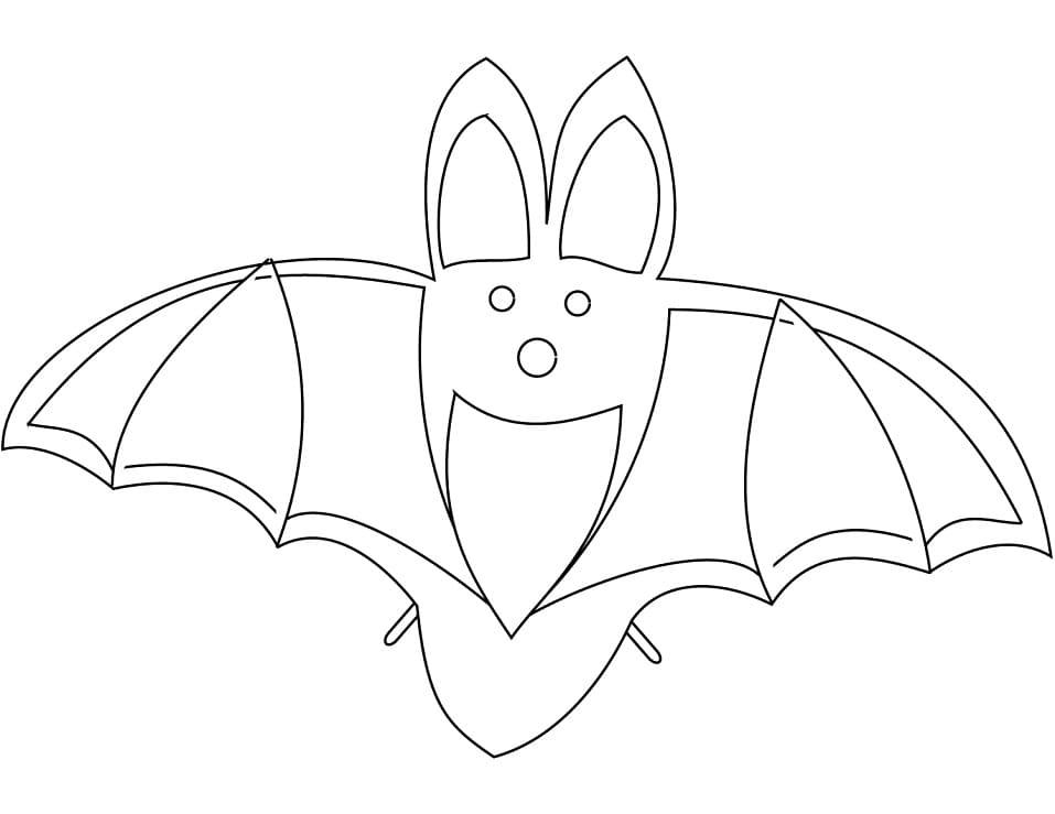 Раскраска Летучая мышь милая 3