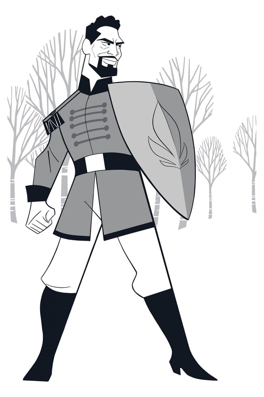 Раскраска Лейтенант Маттиас