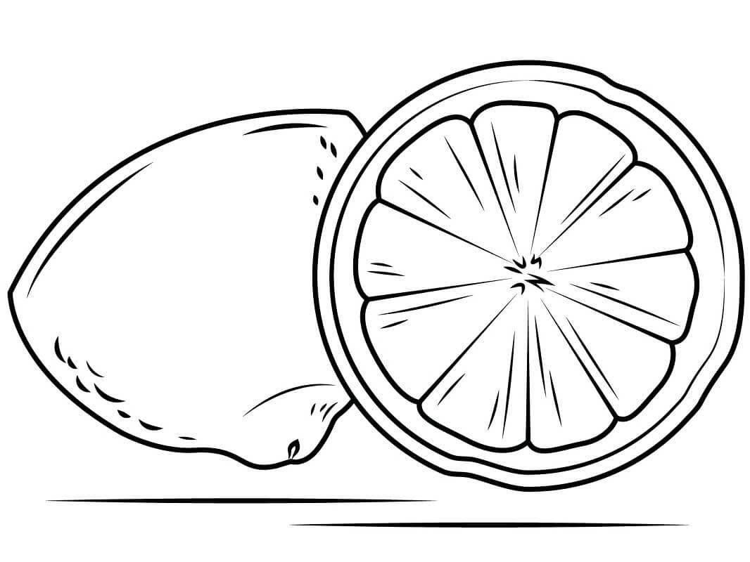 Раскраска Лимон с Половиной 1