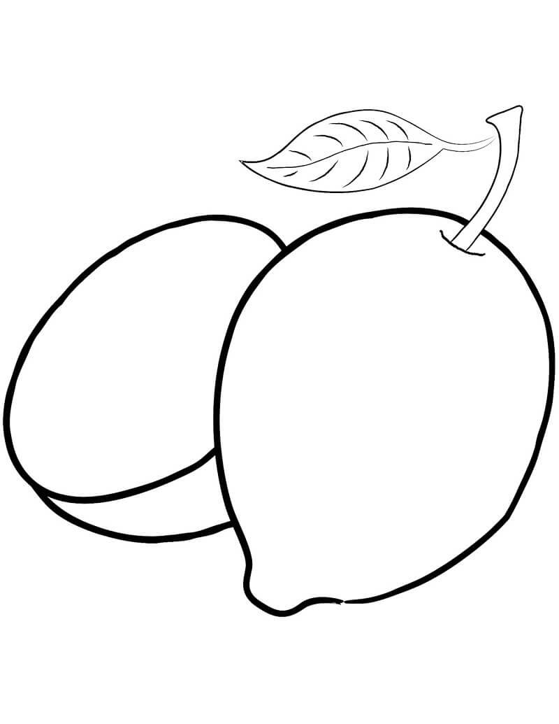 Раскраска Лимон с Половиной