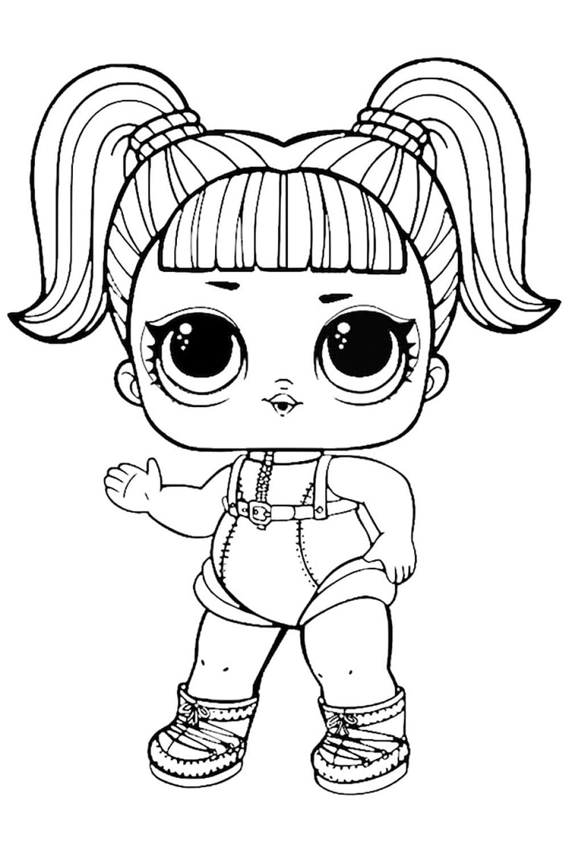 Раскраска ЛОЛ куколка гламурный астронавт