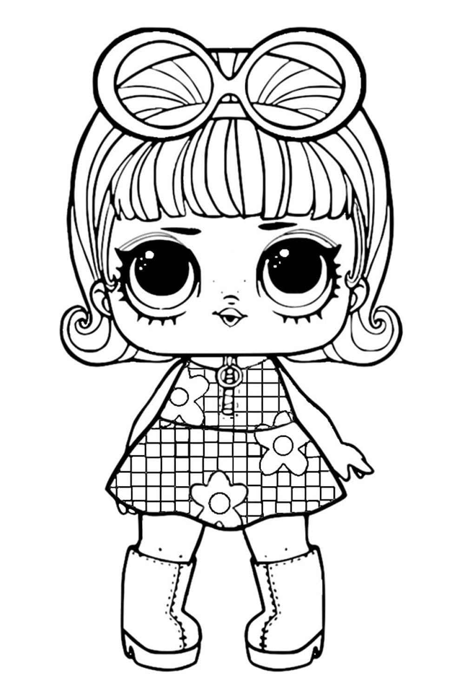 Раскраска ЛОЛ куколка милашка