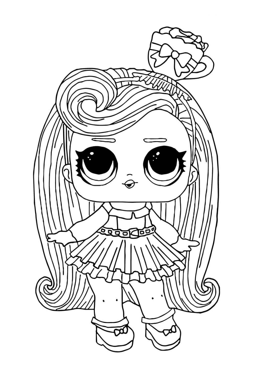 Раскраска ЛОЛ с волосами Дорогуша