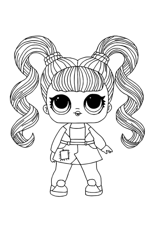 Раскраска ЛОЛ с волосами Желейное варенье