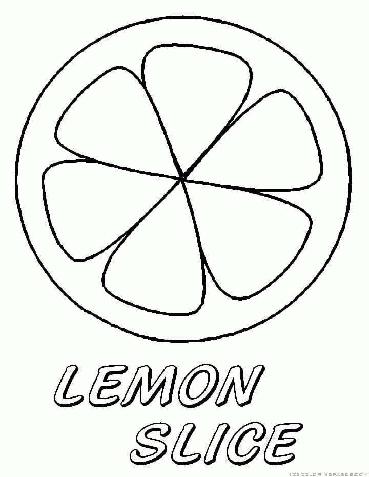 Раскраска ломтик лимона