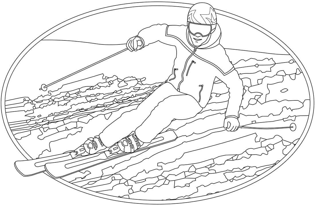 Раскраска лыжи