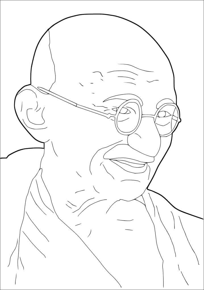 Раскраска Махатма Ганди