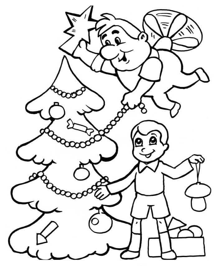 Раскраска Раскраски Малыш и Карлсон