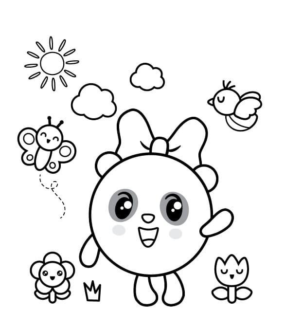 Раскраска Малышарики 1
