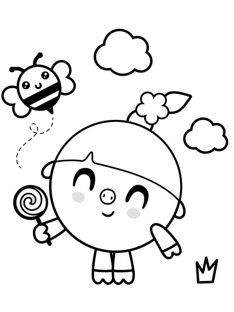 Раскраска Малышарики 3
