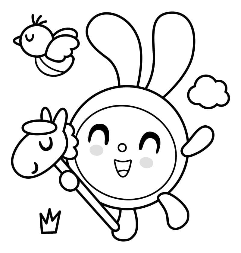 Раскраска Малышарики 5