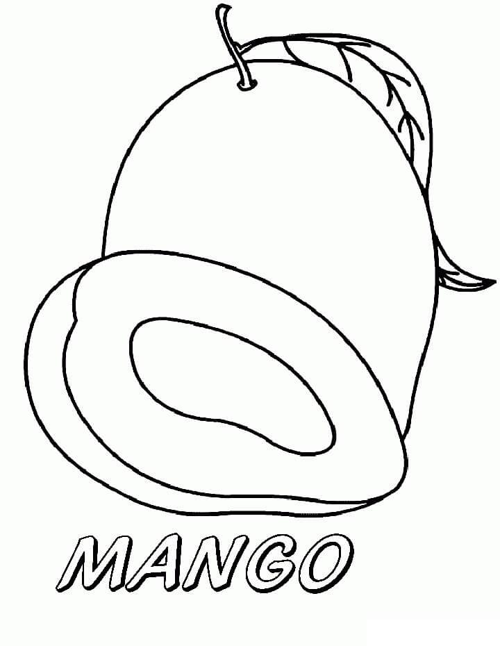 Раскраска Манго 12