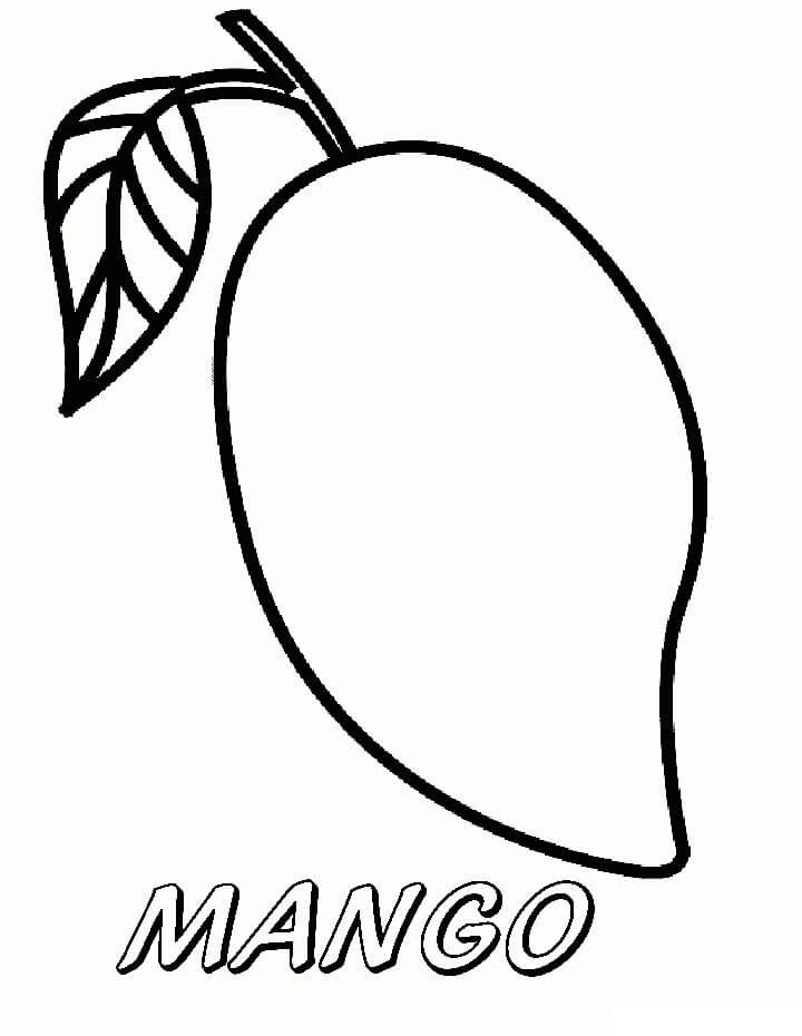 Раскраска Манго 14