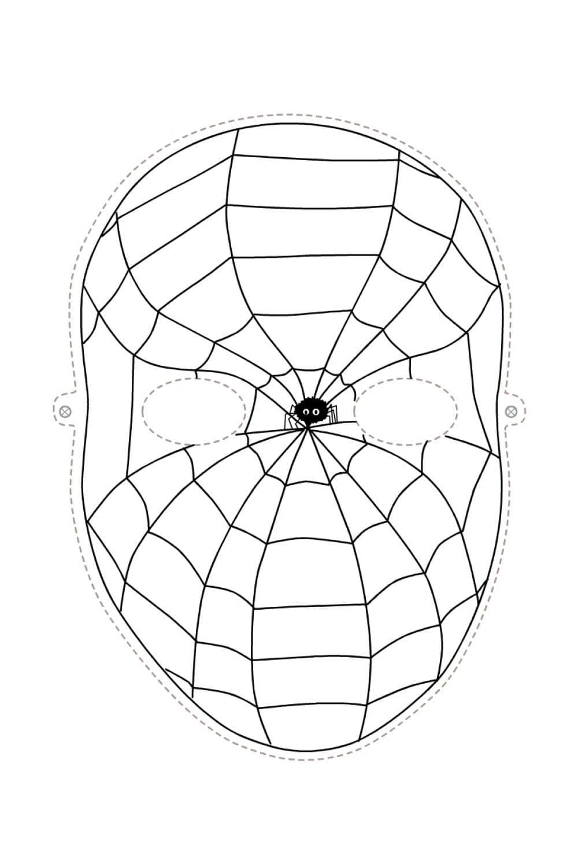 Раскраска Маска Человек-паук