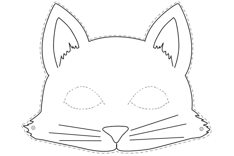 Раскраска Маска кот