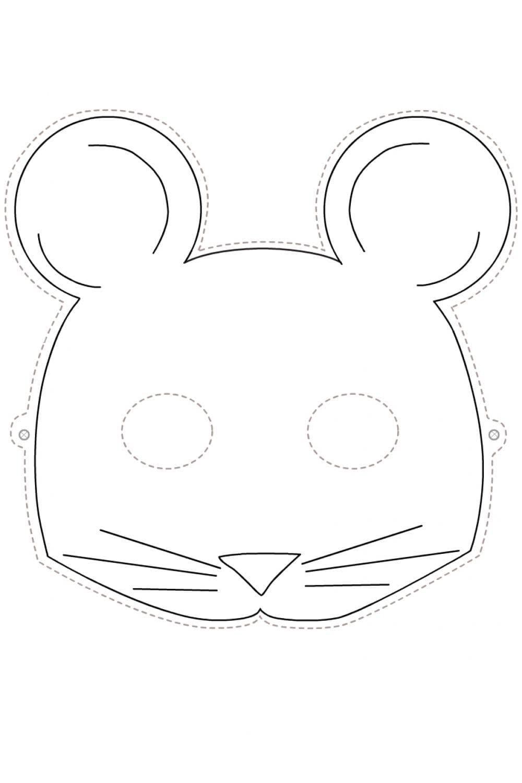 Раскраска Маска мышка