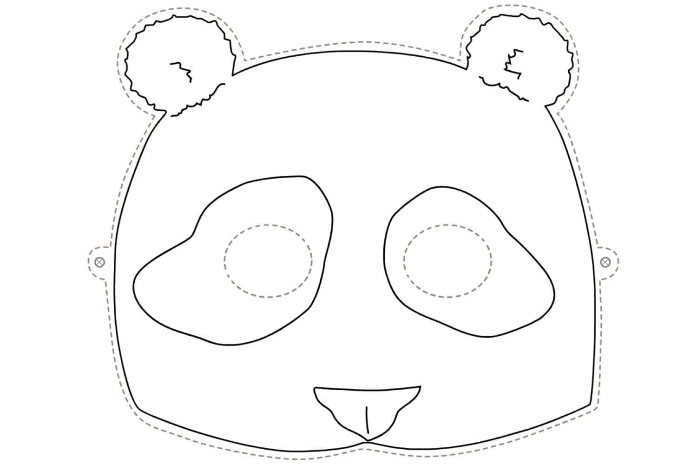 Раскраска Маска панда
